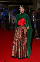 Manchu Lakshmi in a Strange Green Saree at 64th Jio Filmfare Awards South ~  Exclusive 007.JPG