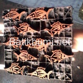 Canting batik cap motif ikan