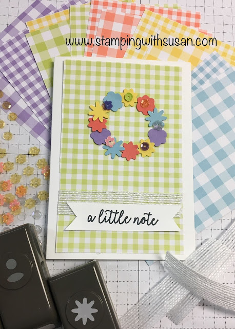Stampin' Up!, www.stampingwithsusan.com, Gingham Gala, Bitty Blooms Punch Pack, 2019 Occasions Catalog