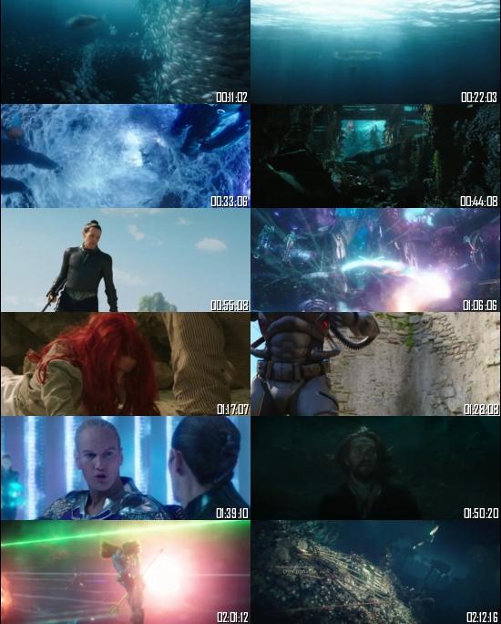 Aquaman 2018 BRRip 720p 480p Dual Audio Hindi English Full Movie Download