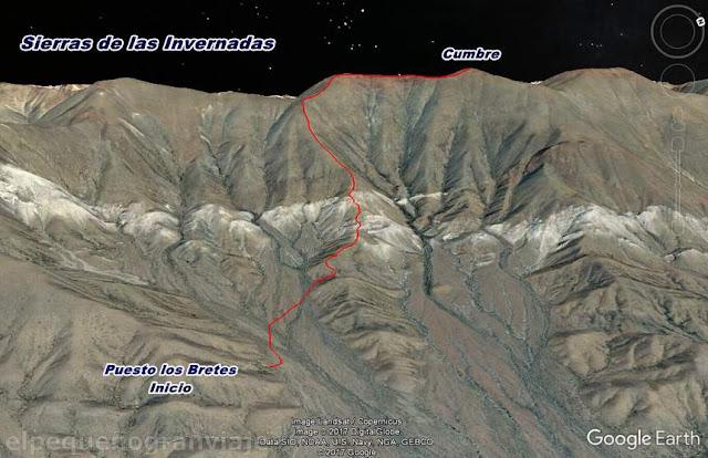 Cerro La Vaquita, trekking, por el dia, caminata, Invernadas, sierra, san juan