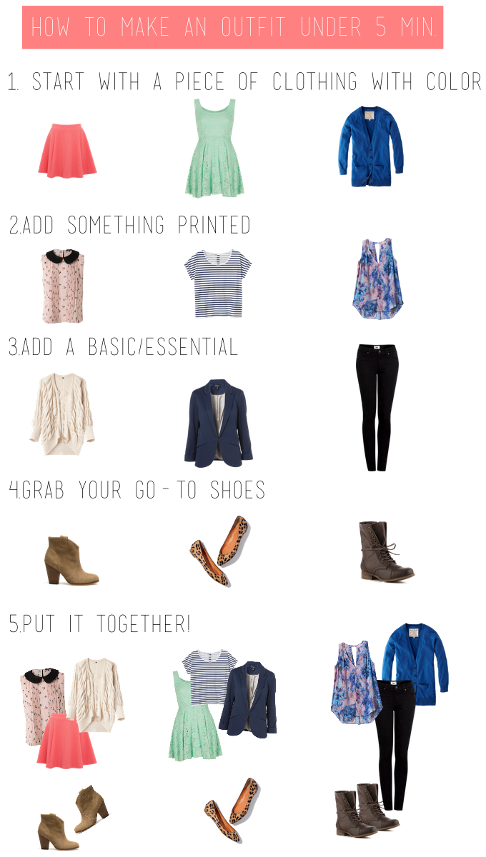 make a cute outfit for school fast