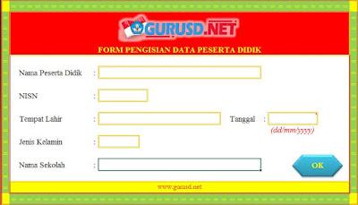 Form Input Cetak NISN
