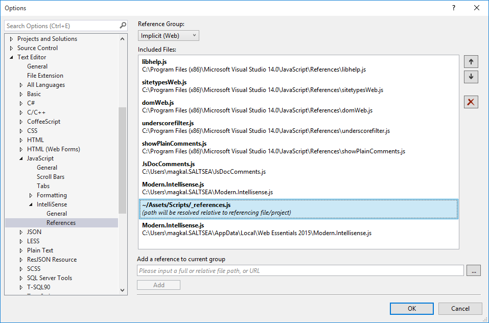 The Making Waves blog: Getting Visual Studio intellisense to play