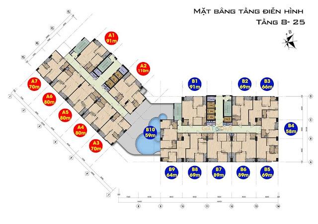 Thiết kế căn hộ dự án chung cư 99 Trần Bình