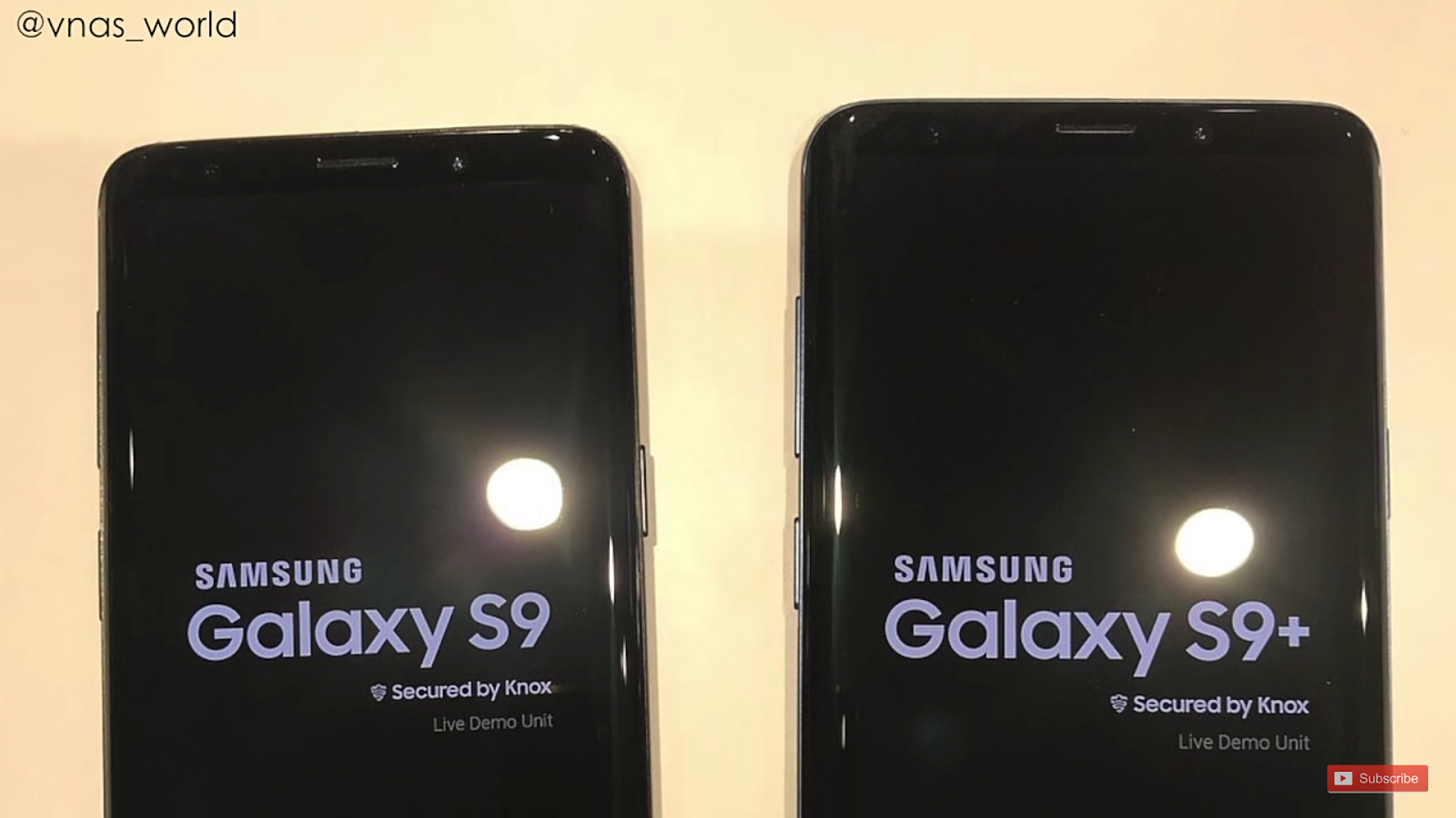 Samsung galaxy s9/s9+ front view