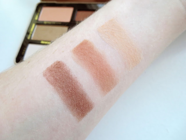 a picture of Too Faced Peanut Butter And Jelly Palette Swatches (Spread the Love, Peanut Butter, Peanut Butter Cup)