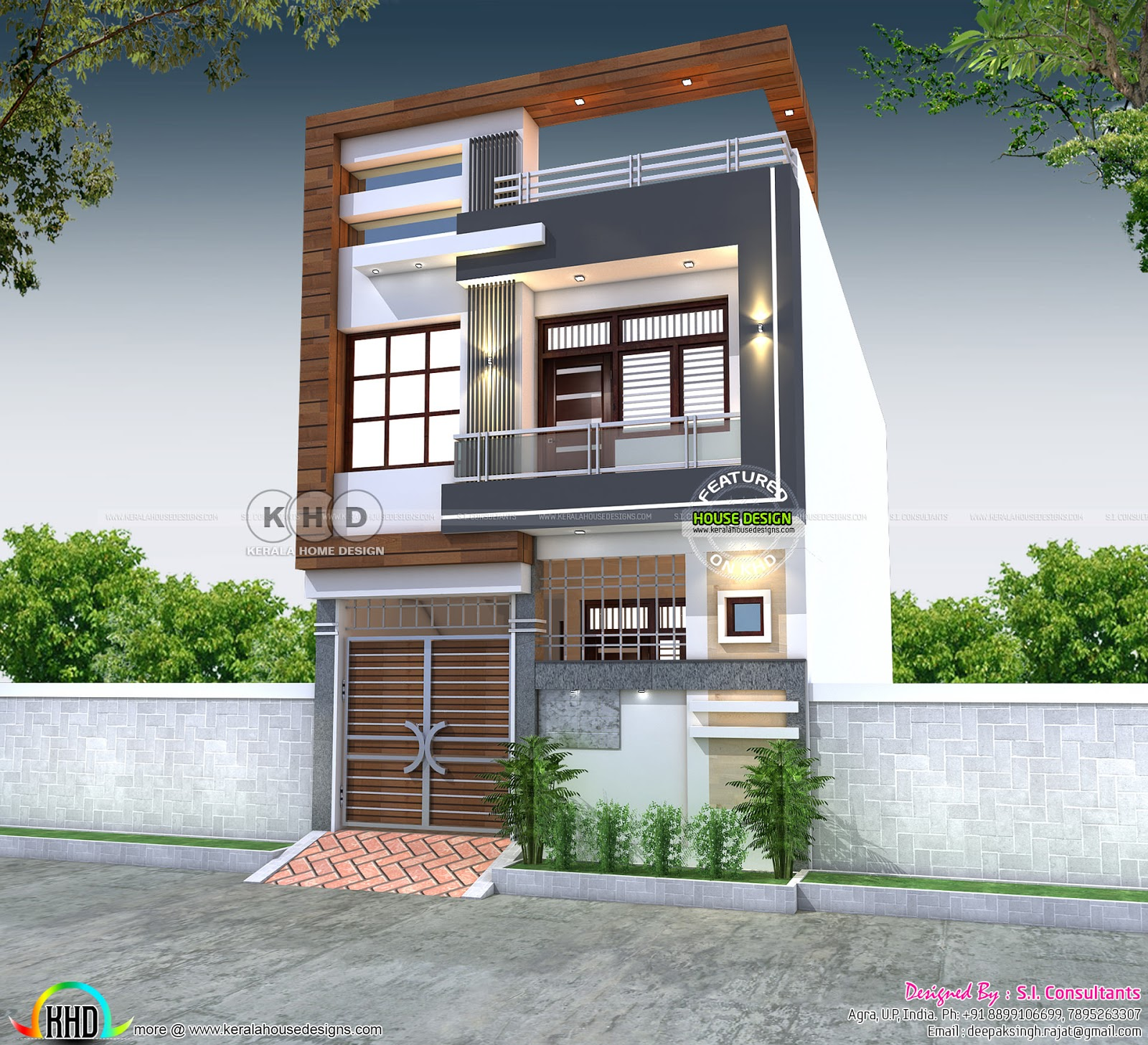 2228 Square Feet 21x50 House Plan Kerala Home Design And Floor Plans 8000 Houses