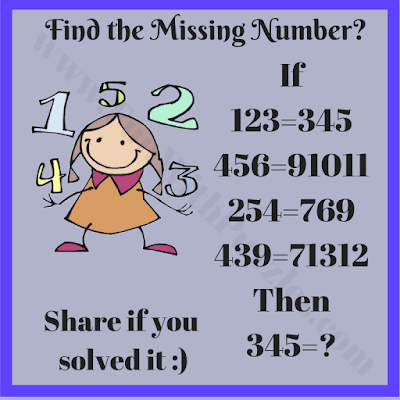 If 123=345, 456=91011, 254=769 and 439=71312 Then 345=?