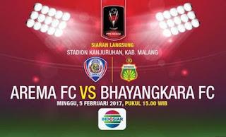 Arema vs Bhayangkara 2-0 Piala Presiden 2017