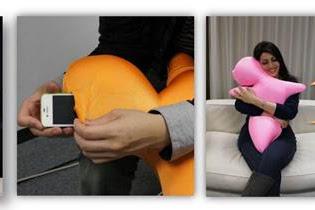 抱き枕型の振動するクッション 「ハグビー」開発