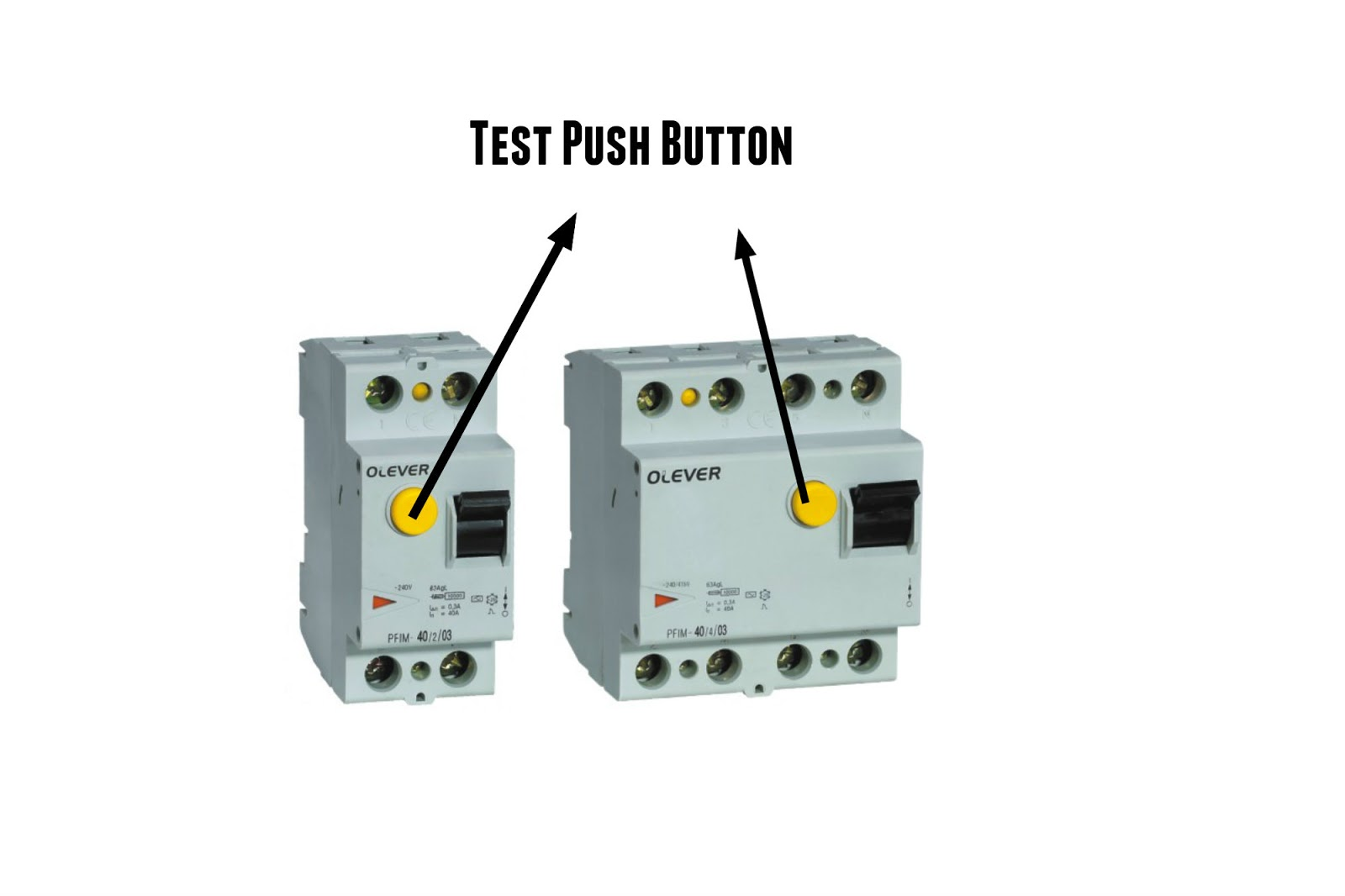 The World Through Electricity Residual Current Circuit Breaker Rccb Wiring Diagram Every Productiontheres A Push Button To Test For Make Surethe Device Is Work Properly When You Press Buttoncurrent From Live Will