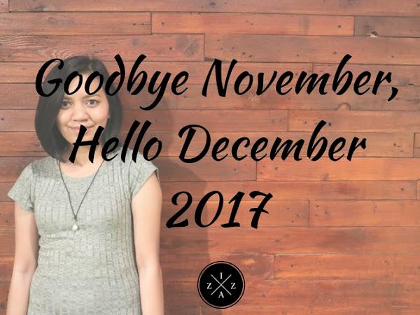 Goodbye November, Hello December 2017