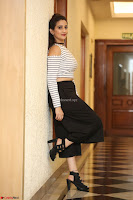 Manjusha in sleevelss crop top and black skirt at Darshakudu pre release ~  Exclusive Celebrities Galleries 045.JPG