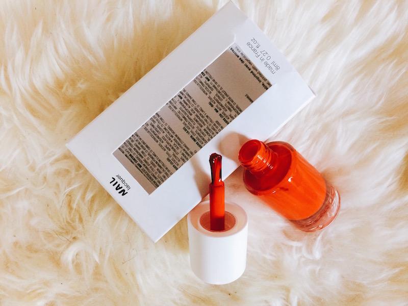 Nail laquer orange, Box La Petite Attention