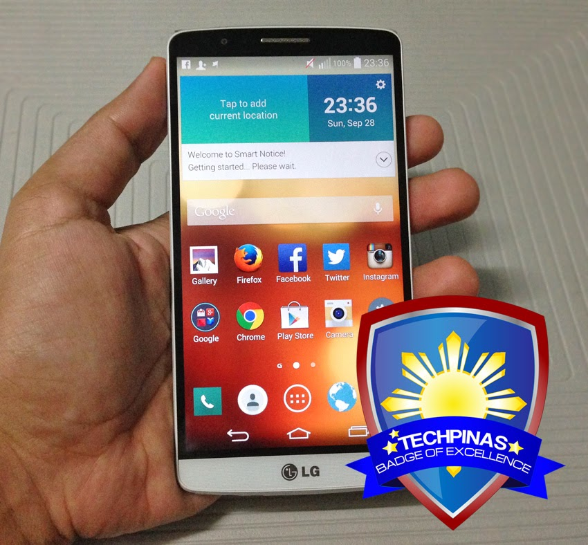 LG G3 Review, LG G3, TechPinas Badge of Excellence