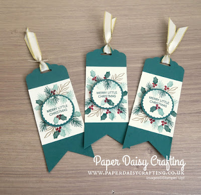 Peaceful Noel Christmas Gift Tags by Stampin' Up!