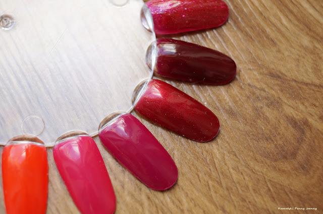 Czerwone lakiery hybrydowe
