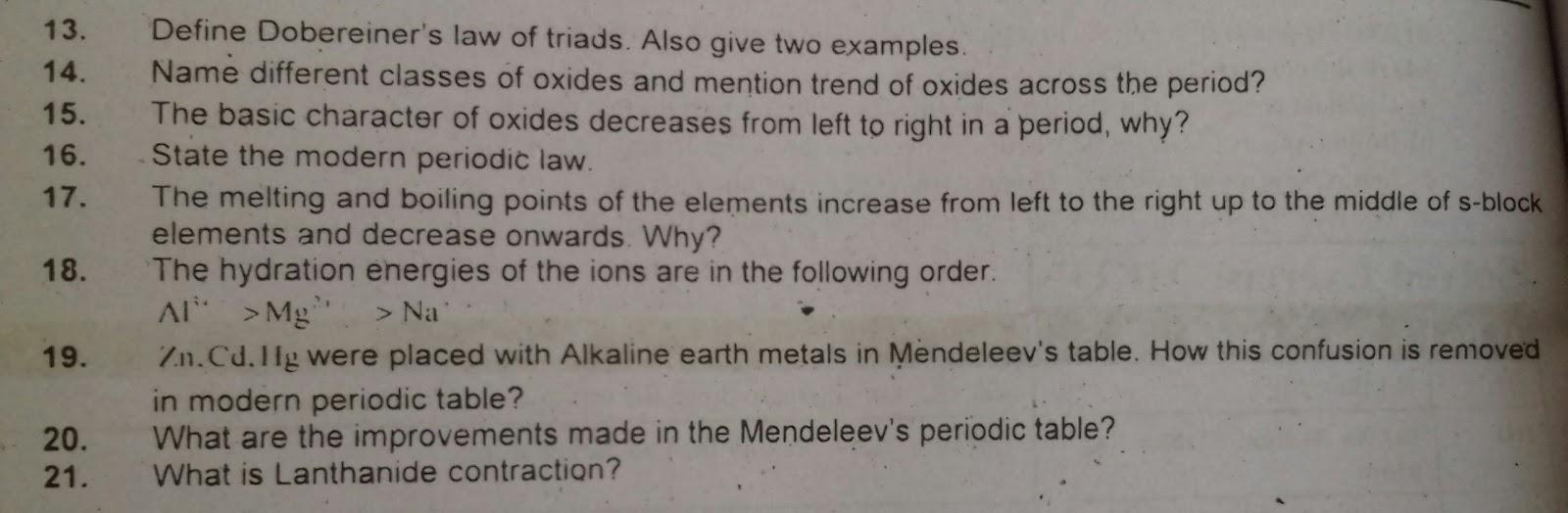 FSc part 2 chemistry chapter 1 important questions - Ratta pk