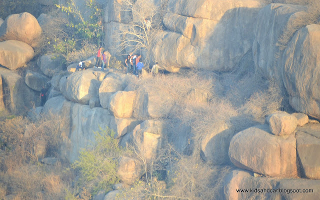 rock climbing at peerancheru boulders with ghac