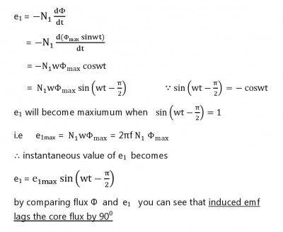 EMF Equation of a Transformer - ELECTRICAL SIMPLE