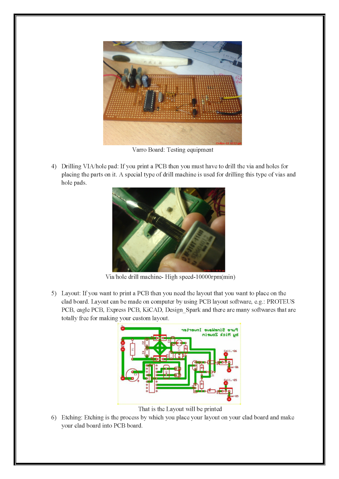 Making Pcb At Home Printed Circuit Board Print Your Make If You Are Planning To Layout On A Copper And Want Custom Then My This Attached Hand Note Will Help