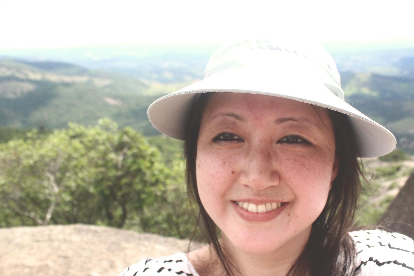selfie em cima da pedra grande atibaia