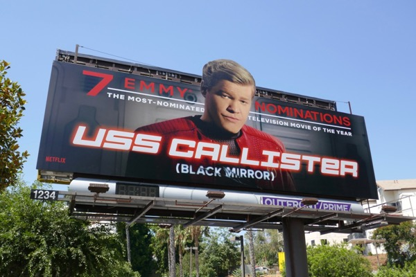 USS Callister Black Mirror Emmy nominee billboard
