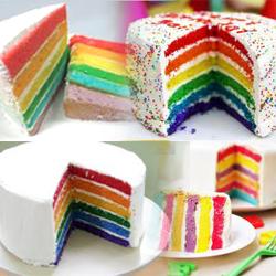 Resep Rainbow Cake | Kue Basah