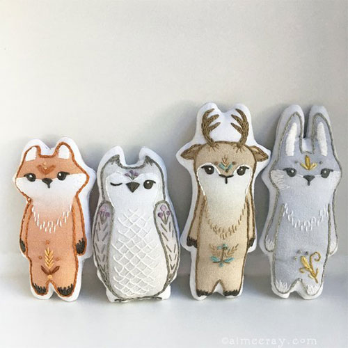 Woodland Animals Sewing Pattern Embroidery Kits