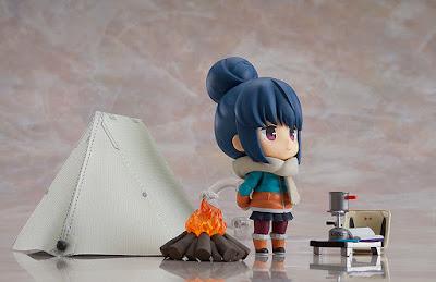 """Figuras: Imágenes del """"Nendoroid Rin Shima"""" de Laid-Back Camp en version normal y DX - Good Smile Company"""