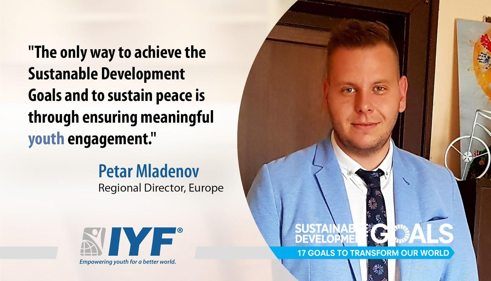 Petar Mladenov, IYF Regional Director for Europe