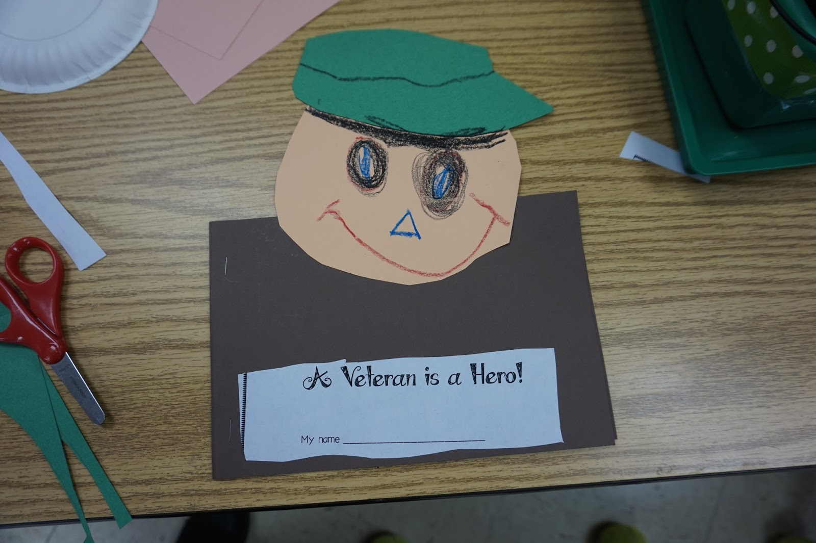 veteran u0027s day craft and book for kids love those kinders