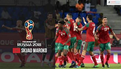 Skuad Susunan Pemain Maroko di Piala Dunia 2018