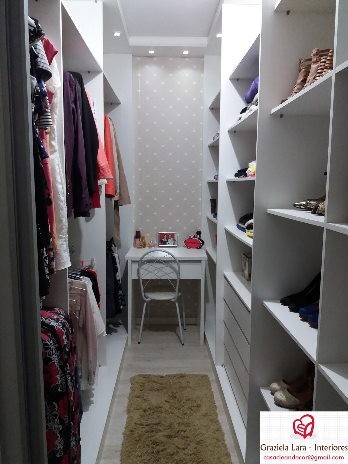 Construindo Minha Casa Clean Tour Closet Sob Medida Dicas De  ~ Decoração Quarto Casal Com Closet