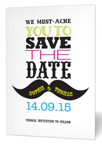 We Must-ache You Save the Date Card by Paper Themes