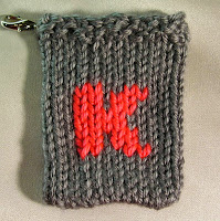 knitted K, monogram K, gift card holder