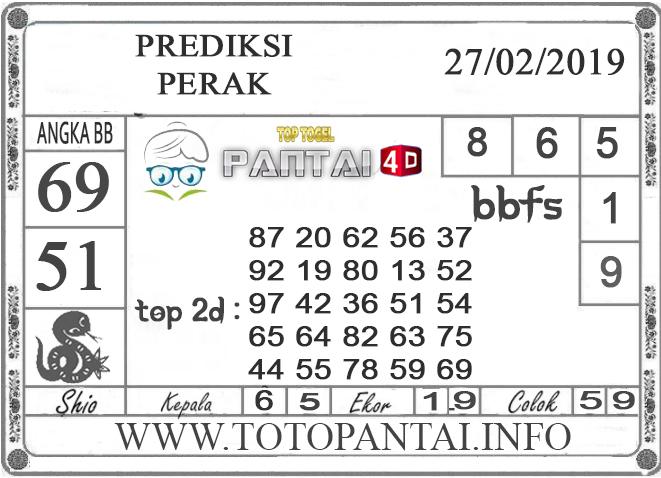 """Prediksi Togel """"PERAK"""" PANTAI4D 27 FEBRUARI 2019"""