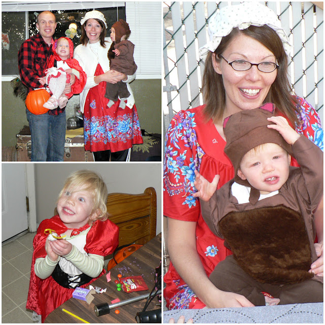 Little red riding costumes for family
