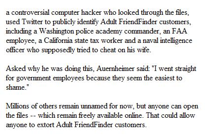 Adult FriendFinder hack
