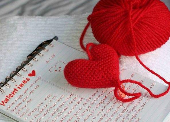 Corazones de crochet para San Valentin