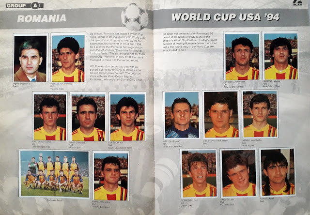 WORLD CUP USA '94 STICKER ALBUM COLLECTION GROUP A ROMANIA