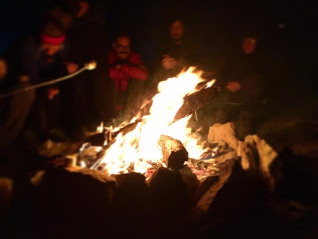 Campfire at Dewey Point