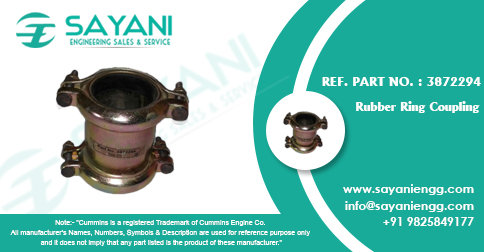 Rubber Ring Coupling Ref.Part No. 3872294