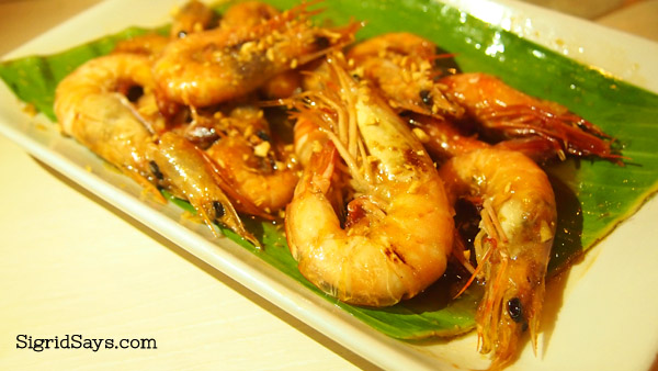 butter-garlic shrimps at Ading's Pala-pala