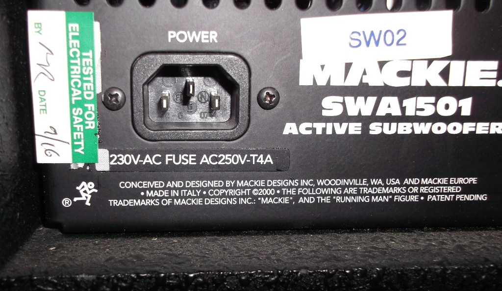 Active Subwoofer Wiring Diagram : Sold mackie 1501 active subwoofers £700 per pair ~ one one two ..