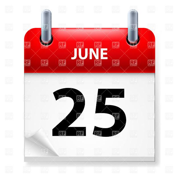 Twentyfifth June In Calendar Click To Zoom
