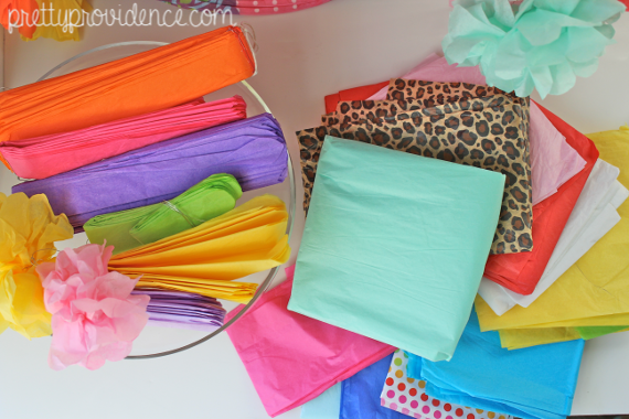 hoard all the colors of tissue paper! how to start a party supply stockpile on a budget and why everyone should have one.