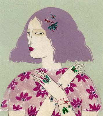 """""""Cara Mia 2"""" por Yelena Bryksenkova   creative emotional illustration art drawings, pictures, deep feelings, sad   imagenes bellas, emociones sentimientos"""
