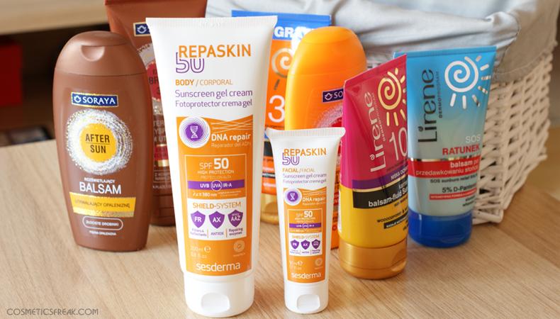 kosmetyki z filtrami przeciwsłonecznymi